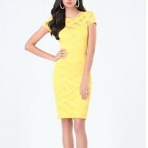 Yellow Flora Lace Dress